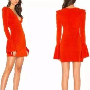 Free People 'Talk About It' mini dress red small
